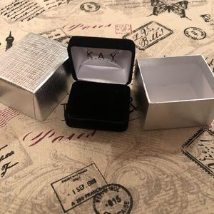Kay Jewelers Earring box and gift box